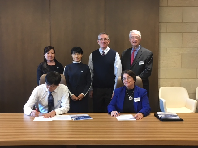 CGTC leadership join officials from Guangzhou Information Engineering Vocational School as they sign an agreement for mentoring in the implementation of occupational programs in the southern Chinese region.