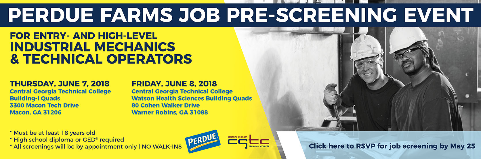 Perdue Farms Job Pre-Screening Event.