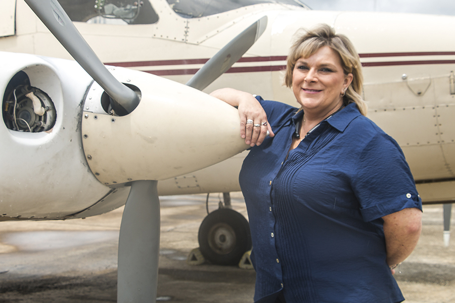 Deanne Corbin is CGTC's first female instructor in the Aviation Maintenance program's 20-year history.