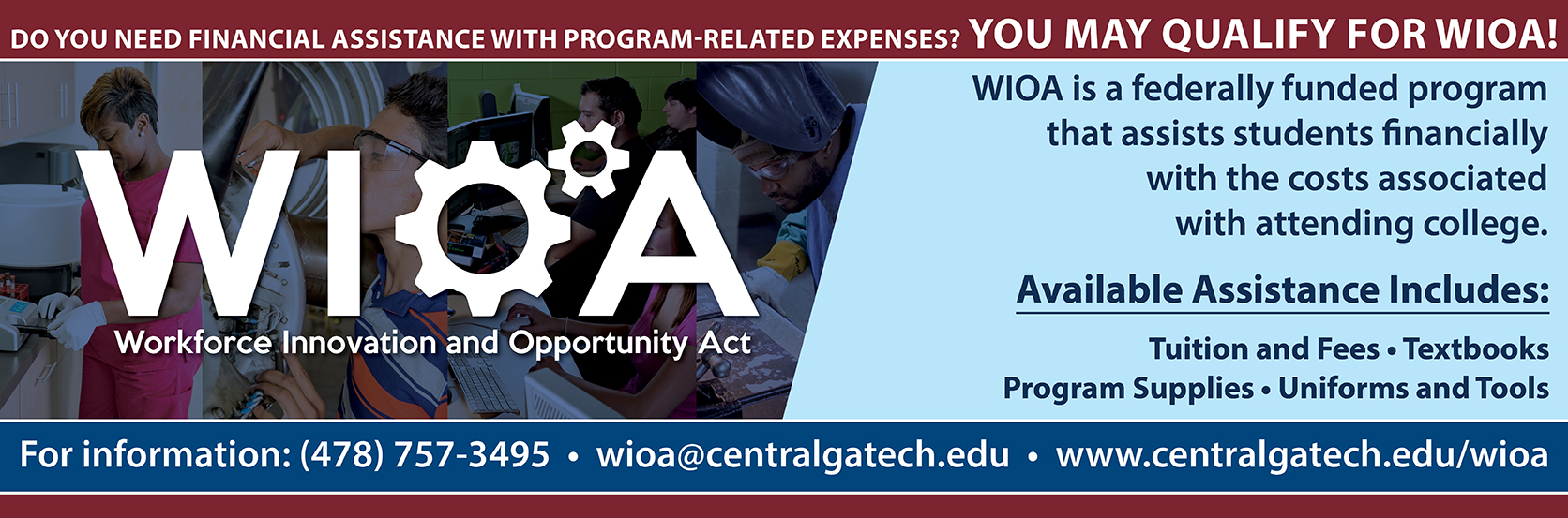 Do you need financial assistance with program-related expenses? You may qualify for WIOA!