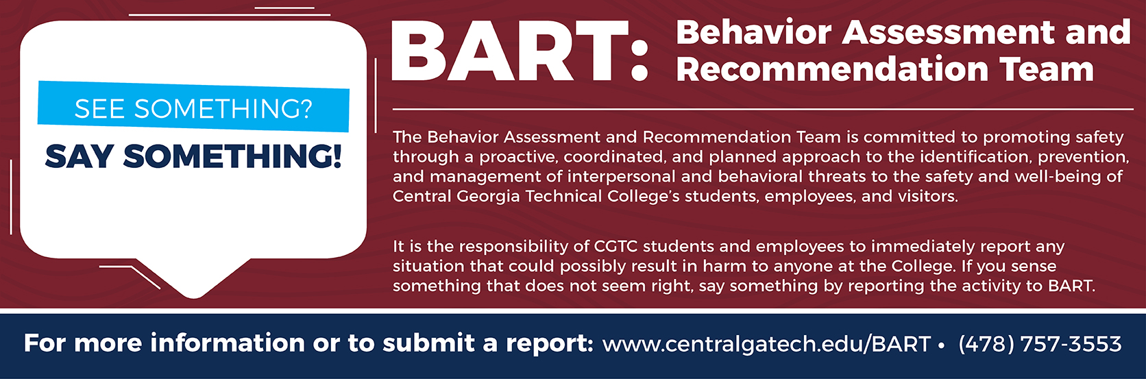 Behavior Assessment and Recommendation Team (BART)