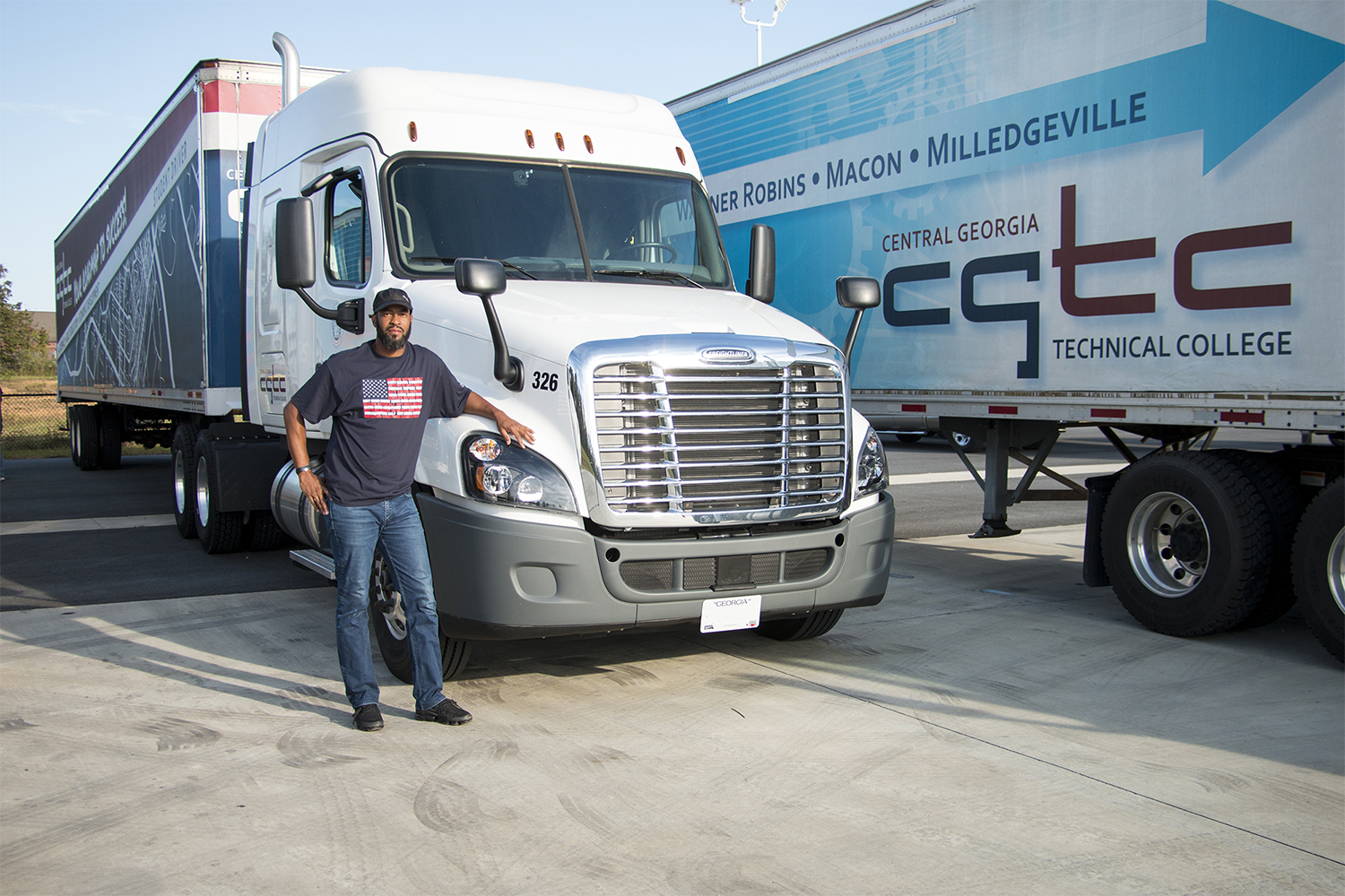 A CDTL student at the Georgia VECTR Center prepares to hit the open road. The demand for truck drivers nationwide is at its highest, an accelerated program at the Center will now be able to help meet the demand through a federal grant providing free tuition.