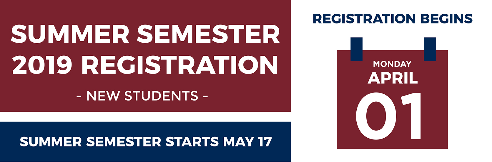 Registration Tile. Registration will open April 1 for current and returning students. Speak with an advisor today
