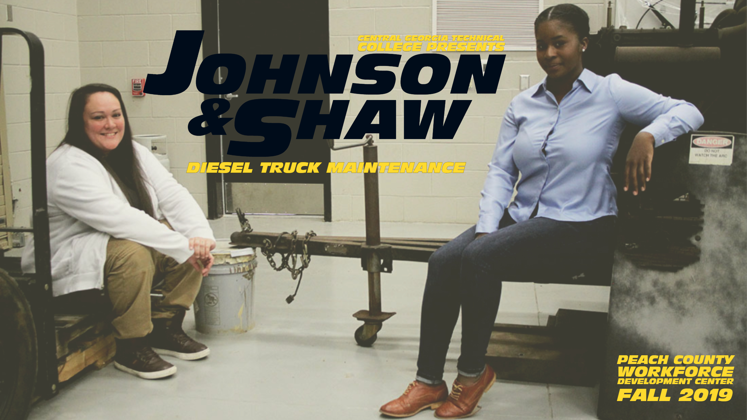 (Left to Right) Tameka Johnson and Brittany Shaw are less than one month into the Diesel Truck Maintenance program at CGTC, overcoming outside expectations for females and facing challenges head-on.