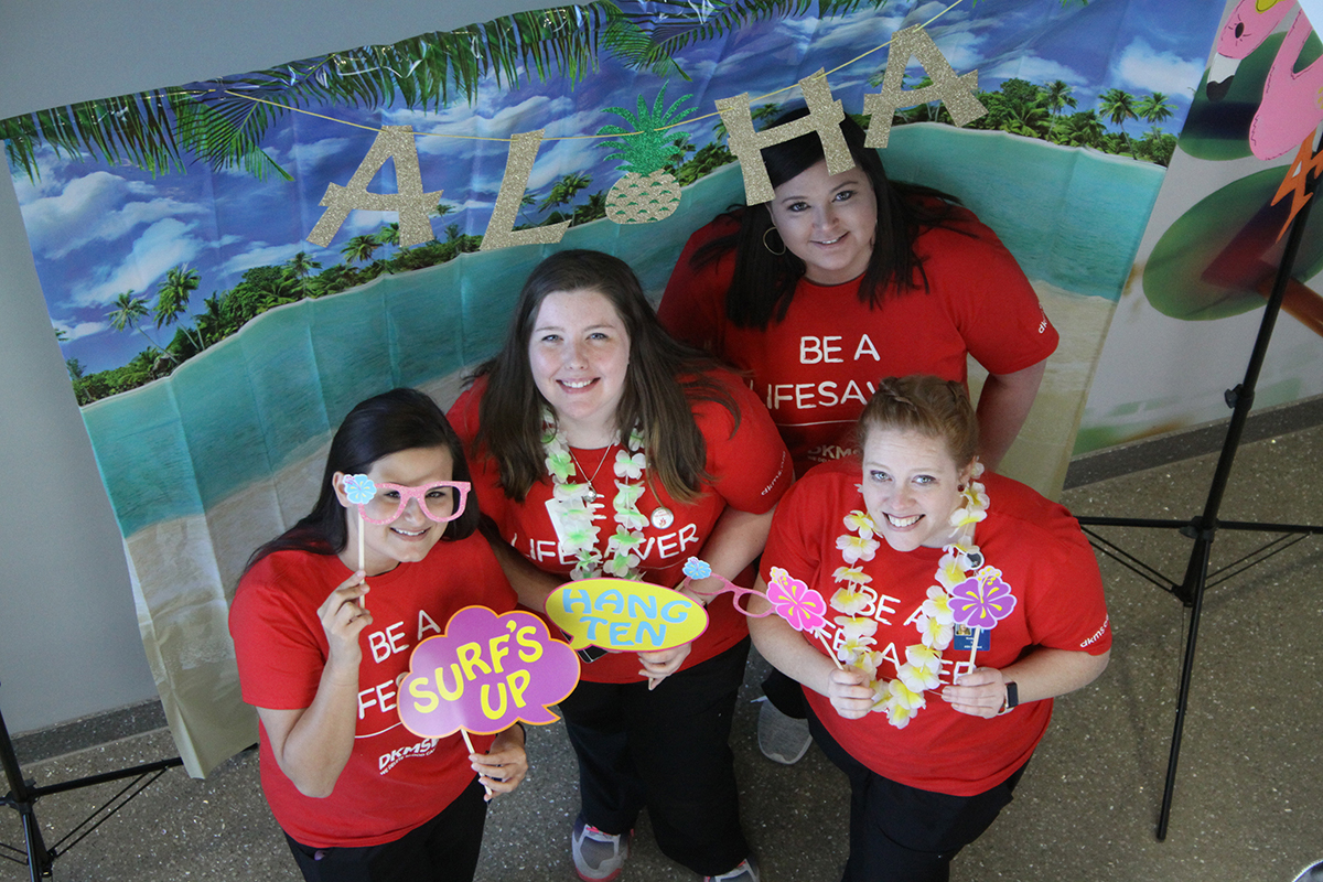 CGTC Student Nurses organized, promoted, and delivered over 260 donors for its Hawaiian Luau themed bone marrow donor drive for DKMS in March 2019.