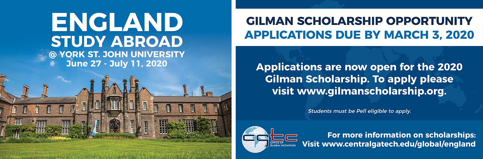 Apply For the Gilman Scholarship Before March 3