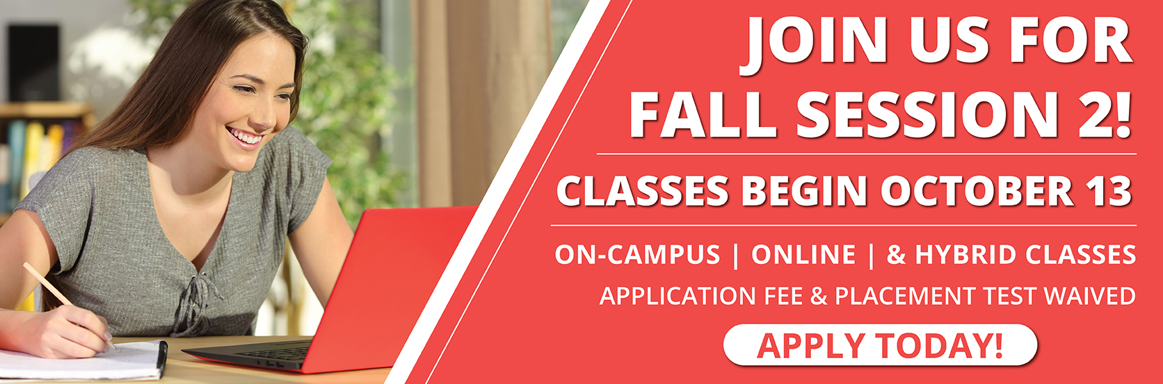Join us for Fall Session 2. Classes begin October 13. On-campus, online, and hybrid classes available. Apply online today at www.centralgatech.edu/admissions-financial-aid.