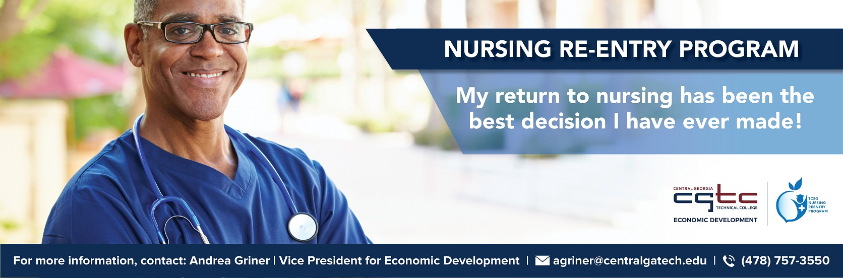 The Economic Development Division is now offering Nurse Re-entry programs. Click to learn more.