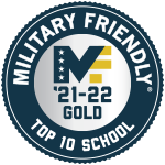 Military Friendly Top 10 School 2021-2022 Gold