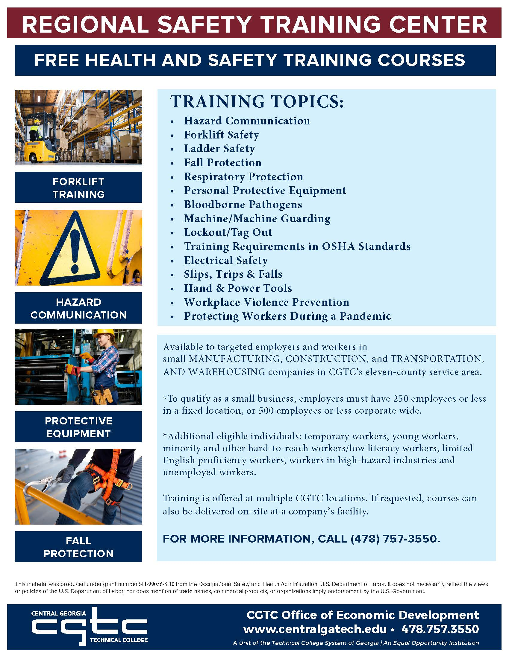 Regional Safety Training Center classes